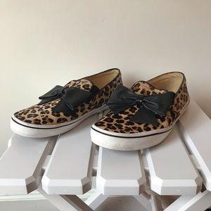 Kate Spade Delise leopard calf hair slip ons 9